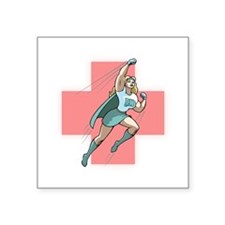 "Cute Vintage nursing Square Sticker 3"" x 3"""