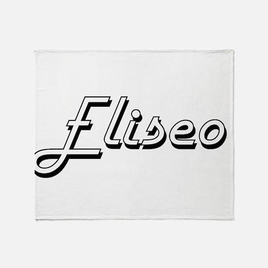 Eliseo Classic Style Name Throw Blanket