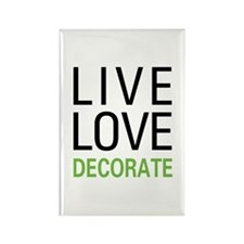 Live Love Decorate Rectangle Magnet (100 pack)