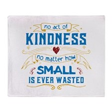 Act of Kindness Throw Blanket