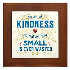 Act of Kindness Framed Tile