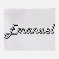 Emanuel Classic Style Name Throw Blanket