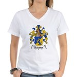 Reutter Family Crest  Women's V-Neck T-Shirt