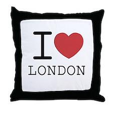 Funny I love olde english bulldogs Throw Pillow