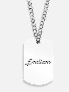 Emiliano Classic Style Name Dog Tags