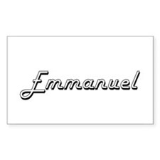 Emmanuel Classic Style Name Decal
