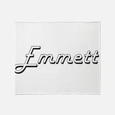 Emmett Classic Style Name Throw Blanket