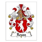 Reuss Family Crest  Small Poster