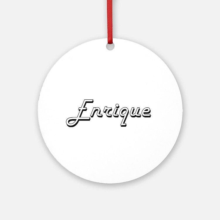 Enrique Classic Style Name Ornament (Round)