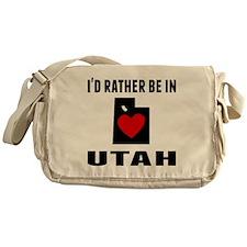 Id Rather Be In Utah Messenger Bag