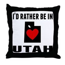 Id Rather Be In Utah Throw Pillow