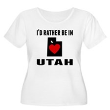 Id Rather Be In Utah Plus Size T-Shirt