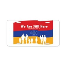 Armenian Genocide Aluminum License Plate