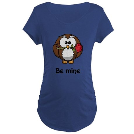 Be Mine Owl Maternity T-Shirt