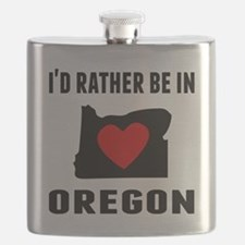 Id Rather Be In Oregon Flask