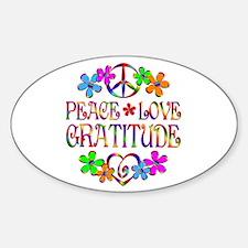Peace Love Gratitude Sticker (Oval 10 pk)
