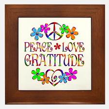 Peace Love Gratitude Framed Tile