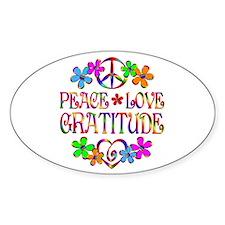 Peace Love Gratitude Decal