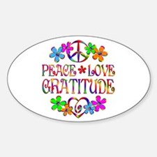 Peace Love Gratitude Decal