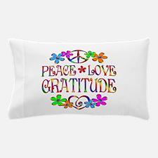 Peace Love Gratitude Pillow Case