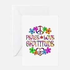 Peace Love Gratitude Greeting Card