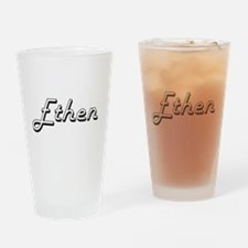 Ethen Classic Style Name Drinking Glass