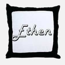 Ethen Classic Style Name Throw Pillow