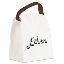 Ethen Classic Style Name Canvas Lunch Bag