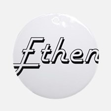 Ethen Classic Style Name Ornament (Round)