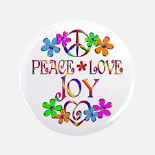 """Peace Love Joy 3.5"""" Button (100 pack)"""