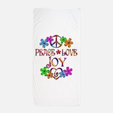 Peace Love Joy Beach Towel