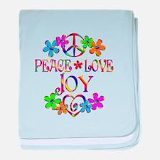Peace Love Joy baby blanket