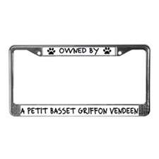 Owned by a Petit Basset License Plate Frame