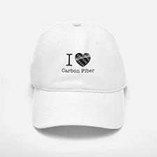I love Carbon Fiber Baseball Baseball Cap
