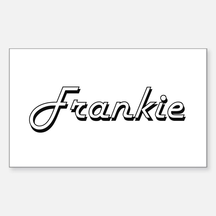 Frankie Classic Style Name Decal