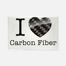 I love Carbon Fiber Rectangle Magnet
