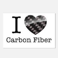 I love Carbon Fiber Postcards (Package of 8)