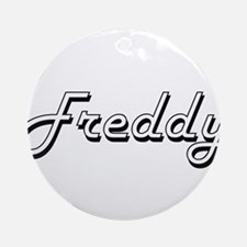 Freddy Classic Style Name Ornament (Round)