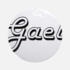 Gael Classic Style Name Ornament (Round)