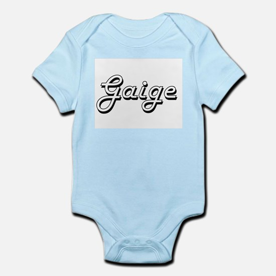 Gaige Classic Style Name Body Suit