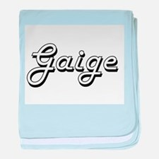 Gaige Classic Style Name baby blanket