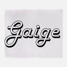 Gaige Classic Style Name Throw Blanket