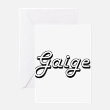 Gaige Classic Style Name Greeting Cards