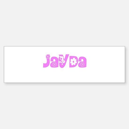 Jayda Flower Design Bumper Bumper Bumper Sticker