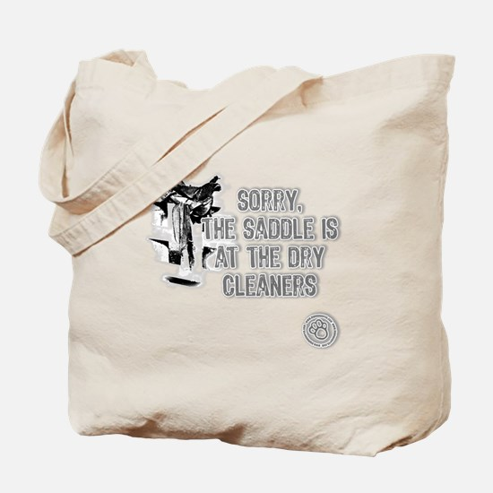 Saddle at the Cleaners Tote Bag