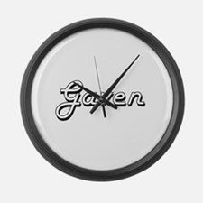Gaven Classic Style Name Large Wall Clock