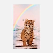 A tiger on the Rainbow Bridge Decal