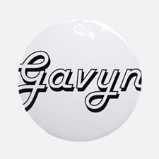 Gavyn Classic Style Name Ornament (Round)