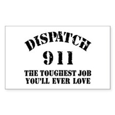 Tough Job 911 Rectangle Decal