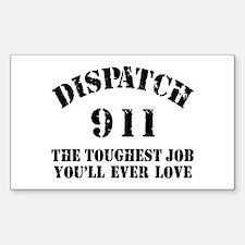 Tough Job 911 Rectangle Decal